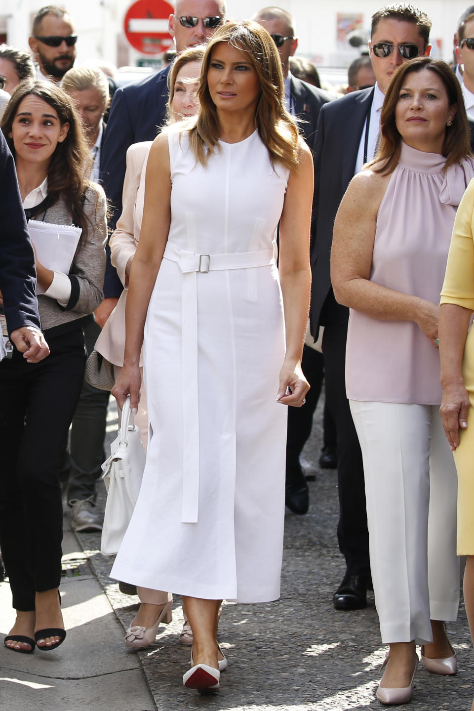 Melania Trump joins G7 World leaders' spouses near Biarritz as part of the G7 summit on August 25, 2019. [Photo: Getty]