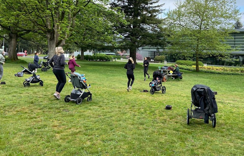 """<span class=""""caption"""">Women who engage in physical activity in the postnatal period report better mental well-being than those who are less physically active.</span> <span class=""""attribution""""><span class=""""license"""">Author provided</span></span>"""