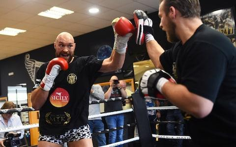 <span>Tyson Fury has threatened to make 'Italian sausage meat' out of Francesco Pianeta </span> <span>Credit: Getty Images </span>
