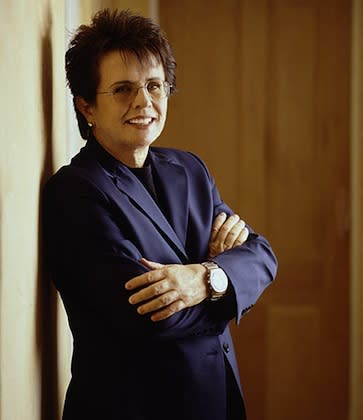 "<div class=""caption-credit""> Photo by: Jonathan Exley / King Enterprises</div><div class=""caption-title"">Billie Jean King 