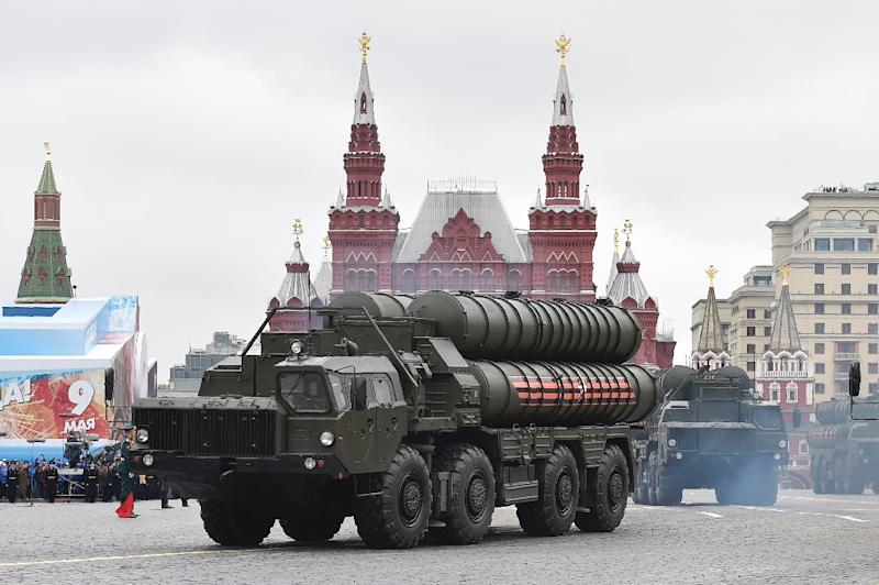 Russia paraded its S-400 air defence system during the recent Victory Day rally in Moscow (AFP Photo/Natalia KOLESNIKOVA)