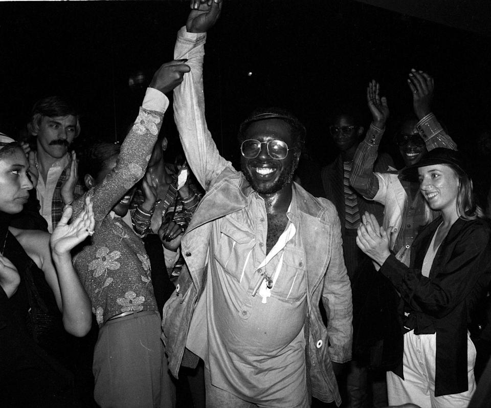 <p>Curtis Mayfield steals the show on the Studio 54 dance floor in 1977. </p>