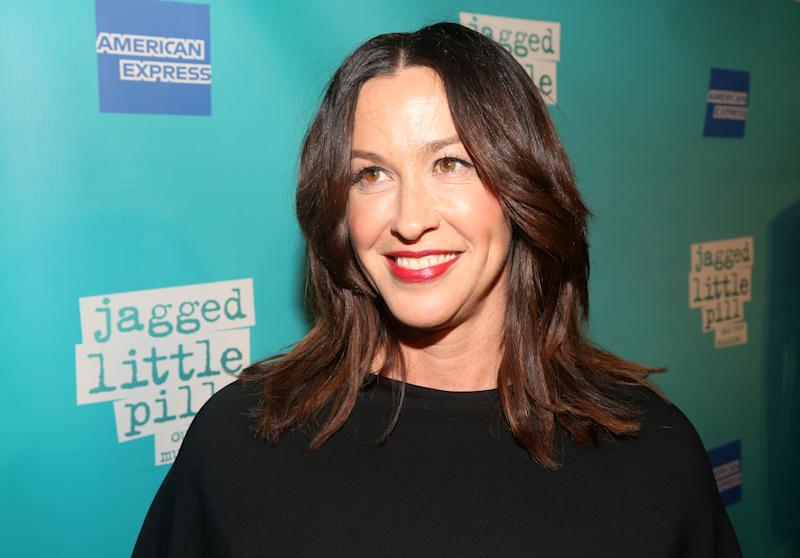 "NEW YORK, NEW YORK - DECEMBER 05: Alanis Morissette poses at the opening night of the new Alanis Morissette musical ""Jagged Little Pill"" on Broadway at The Broadhurst Theatre on December 5, 2019 in New York City. (Photo by Bruce Glikas/FilmMagic)"