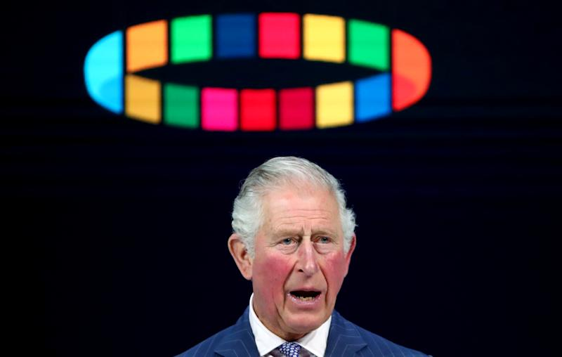 Britain's Prince Charles delivers a special address during the 50th World Economic Forum (WEF) annual meeting in Davos, Switzerland, January 22, 2020. REUTERS/Denis Balibouse