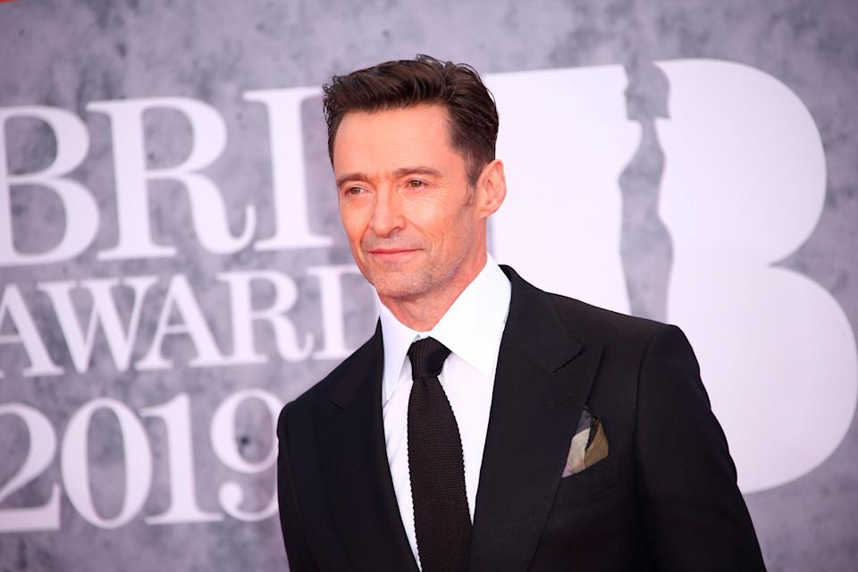 Hugh Jackman poses for photographers upon arrival at the Brit Awards in London, Wednesday, Feb. 20, 2019. (Photo by Joel C Ryan/Invision/AP)