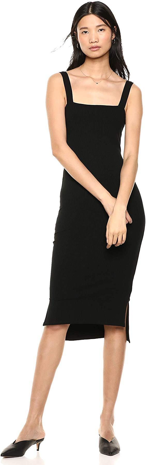 """<h2>Bodycon Dresses</h2><br>There might be nothing more chic and sleek than a form-fitting midi dress. <br><br><strong>The Drop</strong> Square Neck Midi Dress, $, available at <a href=""""https://amzn.to/2OQ8Sb8"""" rel=""""nofollow noopener"""" target=""""_blank"""" data-ylk=""""slk:Amazon"""" class=""""link rapid-noclick-resp"""">Amazon</a>"""