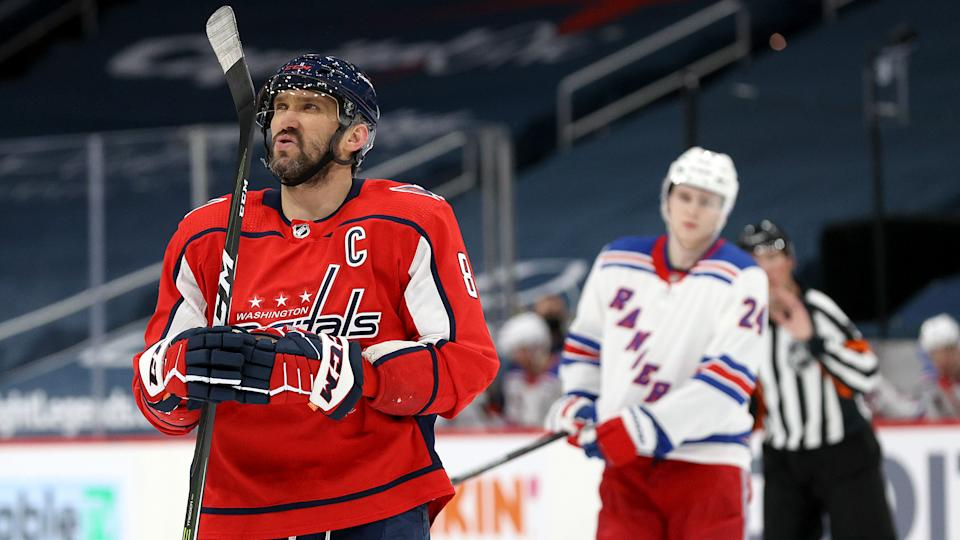 Alexander Ovechkin is making up for lost time in his pursuit of some of hockey's grandest records. (Rob Carr/Getty Images)