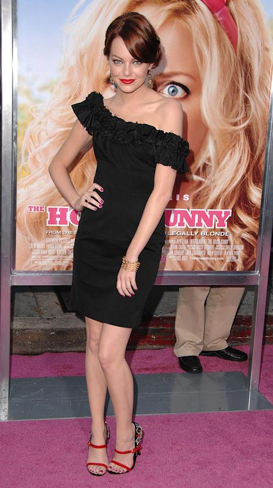 """<a href=""""http://movies.yahoo.com/movie/contributor/1809635883"""">Emma Stone</a> at the Los Angeles Premiere of <a href=""""http://movies.yahoo.com/movie/1809921361/info"""">The House Bunny</a> - 08/20/2008"""