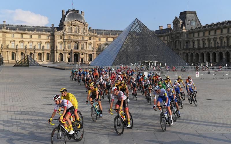 Tour de France riders in the final stage of this year's race - Getty Images