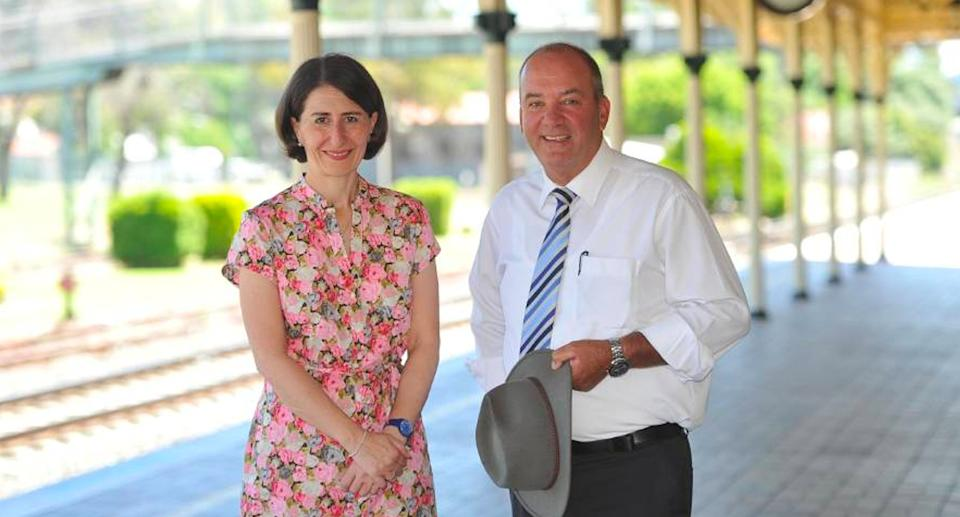 Premier Gladys Berejiklian pictured with former MP Daryl Maguire. Source: Seven