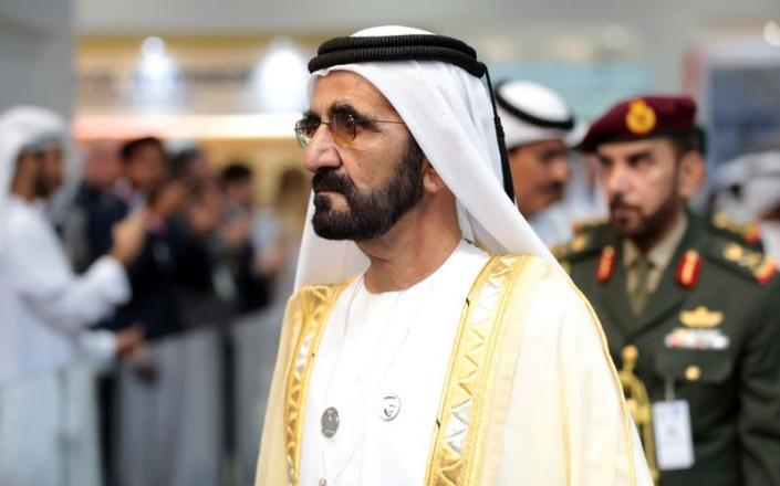 Dubai's Ruler Sheikh Mohammed bin Rashid al-Maktoum, Prime Minister and Vice-President of the United Arab Emirates attends the International Defence Exhibition & Conference (IDEX) in Abu Dhabi