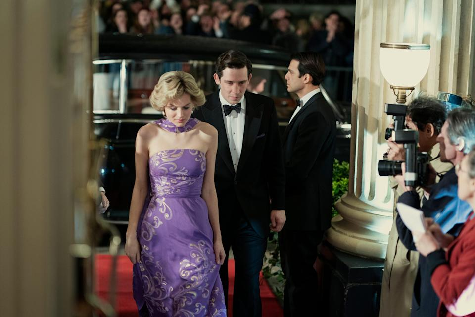 """Princess Diana (Emma Corrin) and Prince Charles (Josh O'Connor) in their early years of marriage on """"The Crown."""""""