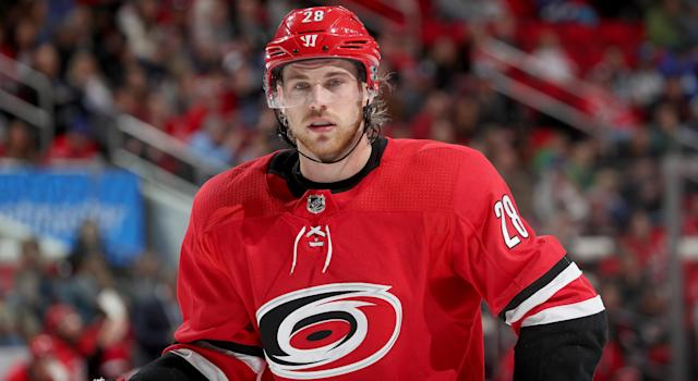 Elias Lindholm is one of a few Hurricanes who have come to Calgary this offseason. (Getty Images)