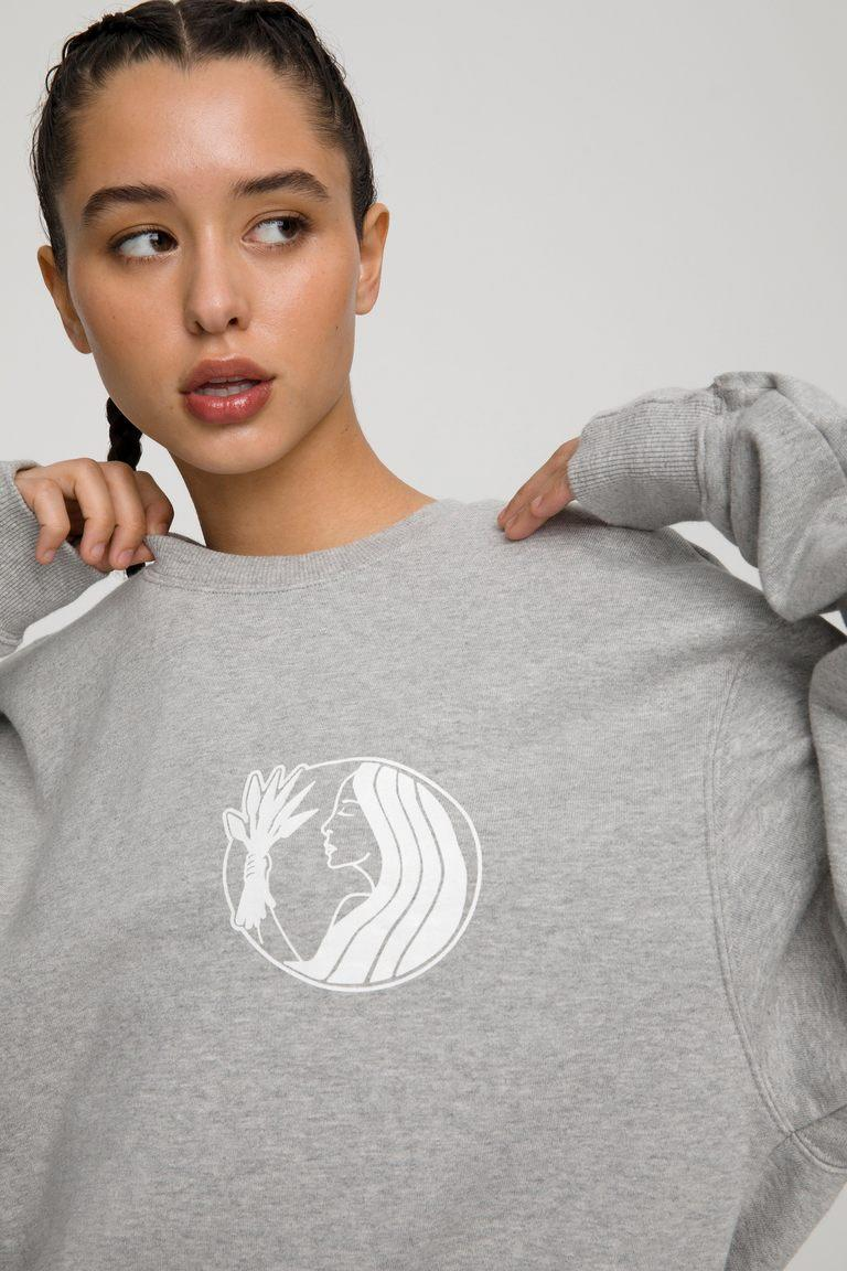 Virgo Zodiac Sweat Set by Good American. Sweatshirt, $124 and sweatpants, $105.