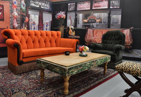 A display at the Friends pop-up recreates the show's iconic Central Perk coffee shop. (ANGELA WEISS/AFP/Getty Images)