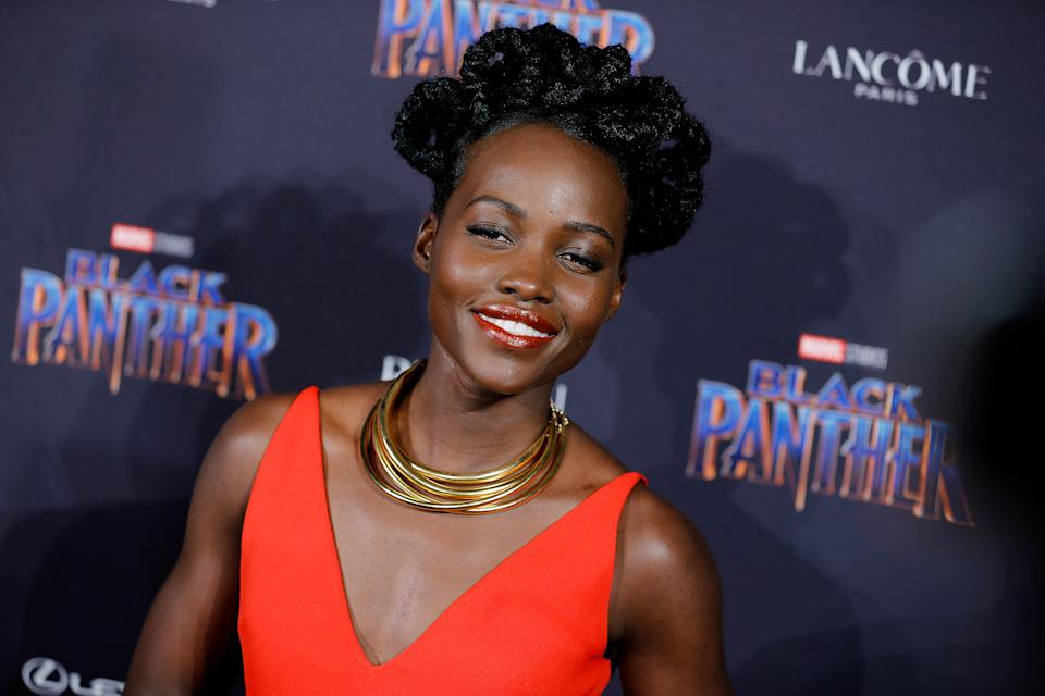 NEW YORK, NY - FEBRUARY 12:  Lupita Nyong'o attends Marvel Studios Presents: Black Panther Welcome To Wakanda during February 2018  New York Fashion Week: The Shows at Industria Studios on February 12, 2018 in New York City.  (Photo by John Lamparski/WireImage)