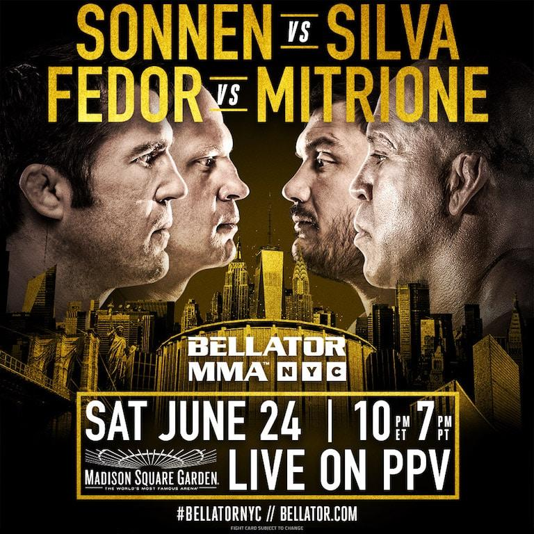 Bellator MMA takes its fight show to Madison Square Garden on June 24 - Bellator MMA/Bellator MMA