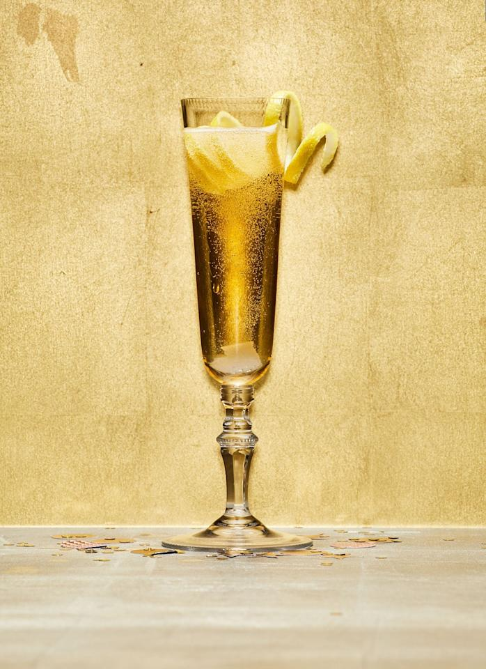 """Elevate your classic glass of bubbly simply by adding a bit of sugar and a few dashes of bitters. The long spiral of zest makes any drink look fancy. <a href=""""https://www.bonappetit.com/recipe/champagne-cocktail?mbid=synd_yahoo_rss"""">See recipe.</a>"""