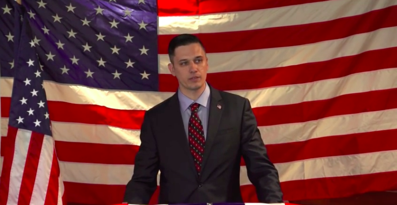 Augustus Invictus is seen in 2015, announcing his earlier run for Senate. (Screenshot)