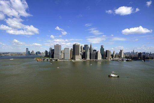The New York City skyline is shown in 2011. The sea level on a stretch of the US Atlantic coast that features the cities of New York, Norfolk and Boston is rising up to four times faster than the global average