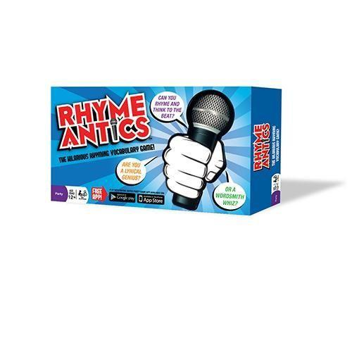 """<p><strong>Rhyme Antics</strong></p><p>rhymeantics.com</p><p><strong>$27.99</strong></p><p><a href=""""https://rhymeantics.com/collections/products/products/rhyme-antics-game"""" rel=""""nofollow noopener"""" target=""""_blank"""" data-ylk=""""slk:Shop Now"""" class=""""link rapid-noclick-resp"""">Shop Now</a></p><p>This fun team game challenges players to <strong>freestyle different rhyming words into a rap</strong> — set to a beat provided by an app — and pass the mic to a teammate to score more points. There are different difficulty levels, so you can get the whole family involved! <em>Ages 12+</em></p>"""