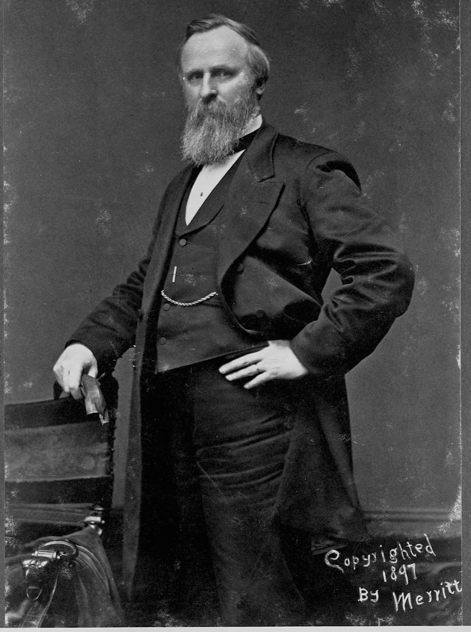 Rutherford B. Hayes, el decimonoveno presidente de EEUU. (Photo by Merritt/Library of Congress/Corbis/VCG via Getty Images)