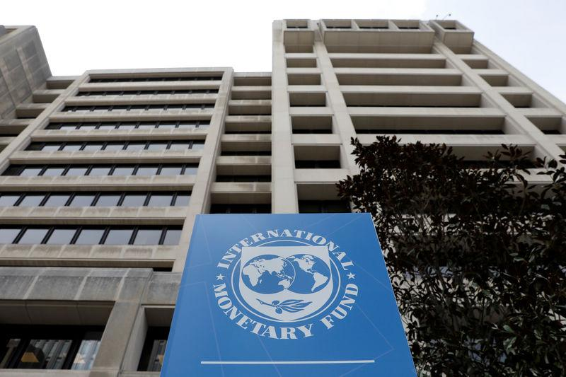 The International Monetary Fund (IMF) headquarters building is seen ahead of the IMF/World Bank spring meetings in Washington