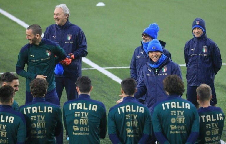 Italy have lost just twice under Roberto Mancini (2ndR).