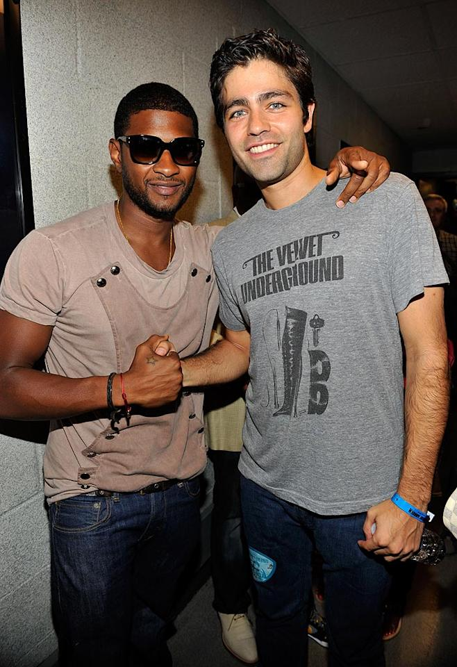 """Entourage's"" Adrian Grenier -- who seems to be everywhere these days! -- also made a surprising appearance for Justin's first headlining show at the venue. Kevin Mazur/<a href=""http://www.wireimage.com"" target=""new"">WireImage.com</a> - August 31, 2010"