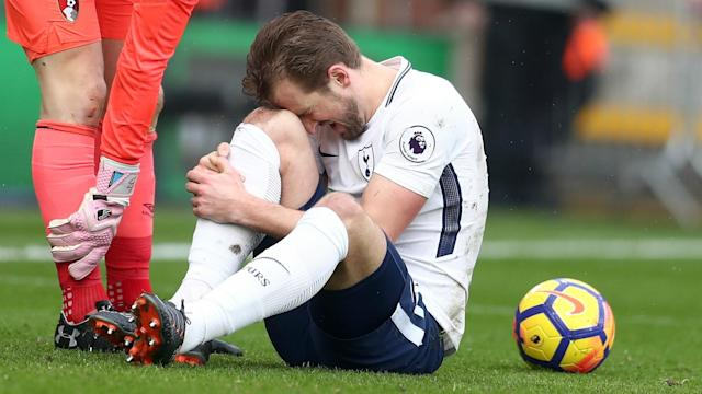 The England international striker collided with Bournemouth goalkeeper Asmir Begovic and limped off during the first half of Sunday's clash