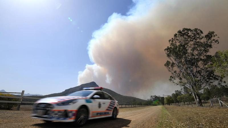 Thousands of people were evacuated at Noosa as 37 fires are still burning across Queensland