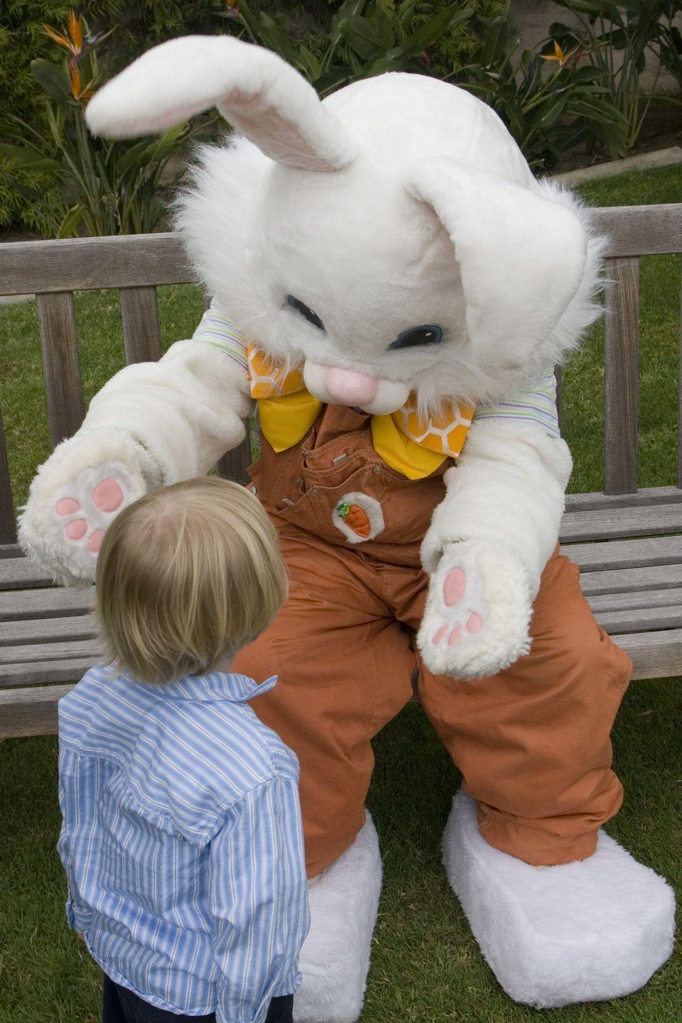 """<p>Like many Easter traditions, the Easter Bunny evolved out of ancient fertility and spring celebrations. Rabbits breed like, well, rabbits, and give birth in the spring. So, in places where the fields became overrun with baby bunnies, it was natural to incorporate the rabbit as a symbol for spring and, eventually, Easter.</p><p>According to an old German story retold by Pamela Kennedy in her book, <a href=""""http://www.amazon.com/gp/product/0824953649/ref=as_li_ss_tl?ie=UTF8&camp=1789&creative=390957&creativeASIN=0824953649&linkCode=as2&tag=syn-yahoo-20&ascsubtag=%5Bartid%7C10055.g.191%5Bsrc%7Cyahoo-us"""" rel=""""nofollow noopener"""" target=""""_blank"""" data-ylk=""""slk:An Easter Celebration: Traditions and Customs from Around the World"""" class=""""link rapid-noclick-resp""""><em>An Easter Celebration: Traditions and Customs from Around the World</em></a>, a poor woman who loved children would hide brightly colored eggs in her garden as Easter treats. One year, while the children searched for them, they noticed a hare hopping past and believed that <a href=""""https://www.goodhousekeeping.com/holidays/easter-ideas/videos/a37397/diy-easter-bunny-wreath/"""" rel=""""nofollow noopener"""" target=""""_blank"""" data-ylk=""""slk:the animal"""" class=""""link rapid-noclick-resp"""">the animal</a> had left the eggs.</p>"""
