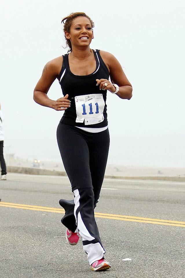 "Fellow pop star -- and former Spice Girl -- Melanie Brown (aka Scary Spice) has been able to maintain her perfectly toned body thanks to her rigorous running routine. Pedro Andrade/<a href=""http://www.pacificcoastnews.com/"" target=""new"">PacificCoastNews.com</a> - July 11, 2010"