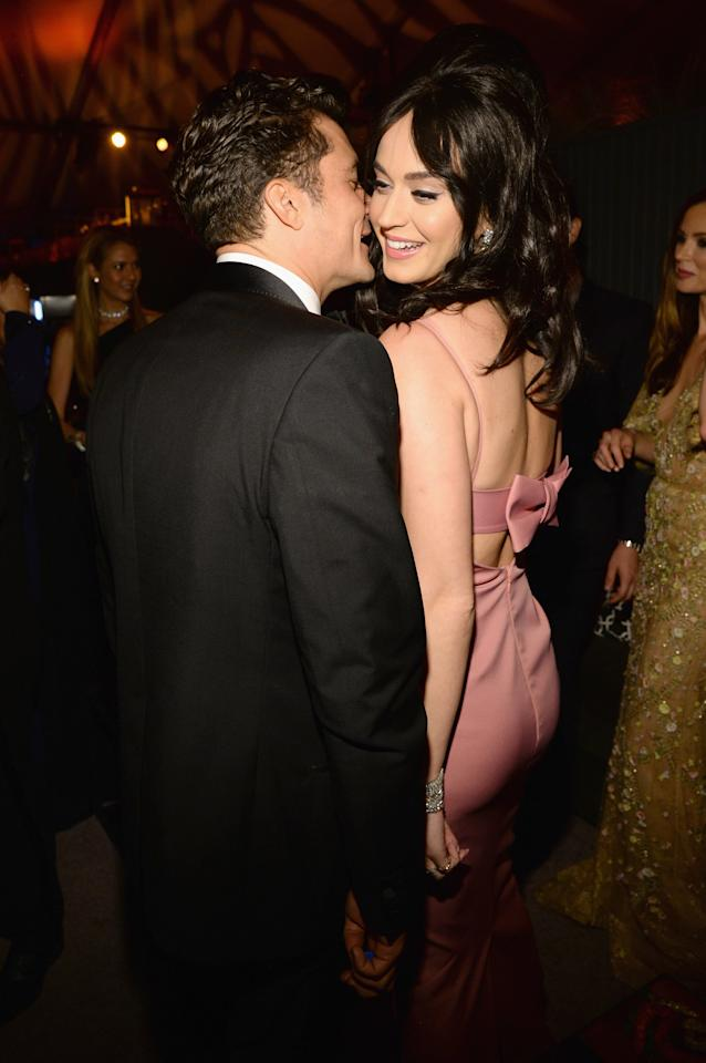 <p>Both Katy and Orlando were a few years out from their divorces (hers in 2012, his in 2013) when they met again after the 2016 Golden Globes and got verrrrry close at the afterparty.</p>