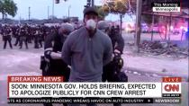 Police arrest a member of a CNN crew broadcasting live while covering protests related to the death of of African-American man George Floyd, in Minneapolis
