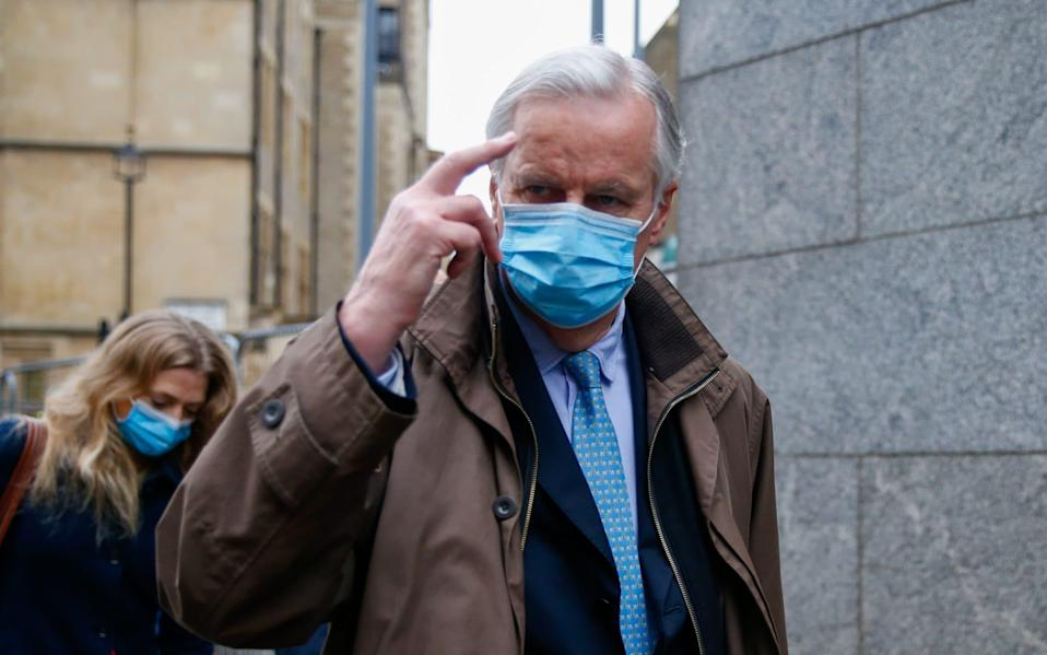 Michel Barnier cancelled a briefing with ambassadors as talks intensified - Hollie Adams/Bloomberg