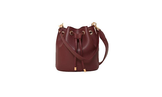 "<p>Madeline mini bucket, $235, <a href=""https://www.angelaroi.com/products/madeline-mini-bucket-bordeaux"" rel=""nofollow noopener"" target=""_blank"" data-ylk=""slk:angelaroi.com"" class=""link rapid-noclick-resp"">angelaroi.com</a> </p>"