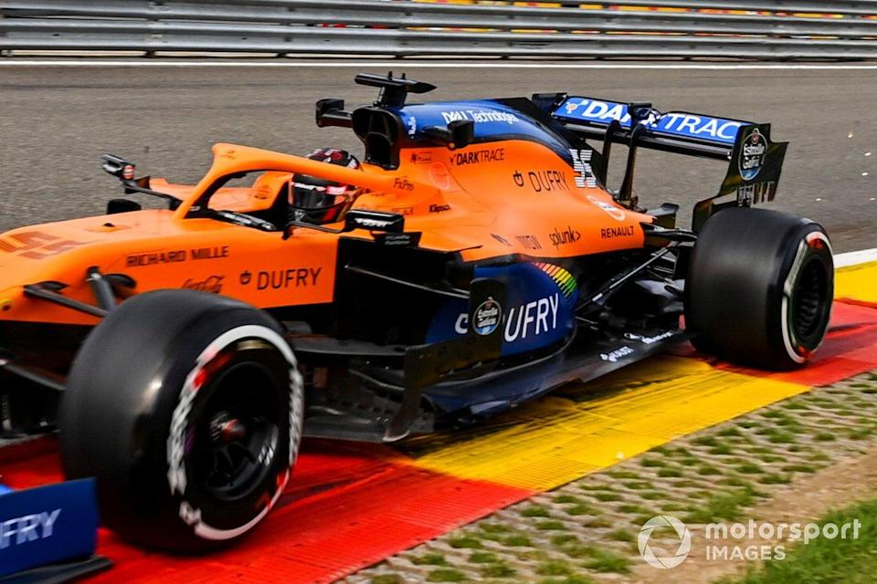 "Carlos Sainz Jr., McLaren MCL35 with a 2021 spec floor<span class=""copyright"">Mark Sutton / Motorsport Images</span>"