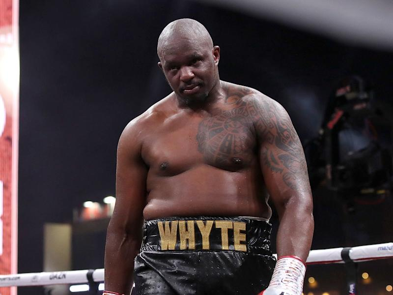 Dillian Whyte after beating Mariusz Wach in December: PA