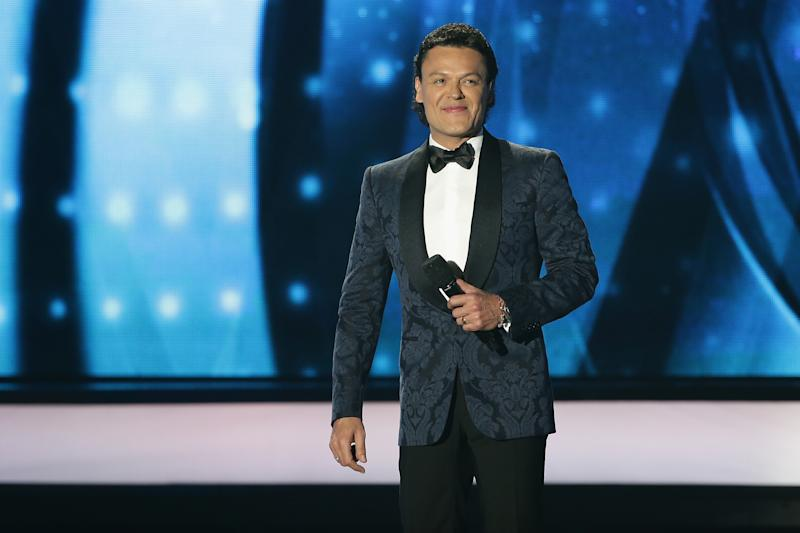 PREMIOS BILLBOARD DE LA M��SICA LATINA 2016 -- Pictured: Pedro Fernandez speaks on stage during the 2016 Billboard Latin Music Awards at the BankUnited Center in Miami, Florida on April 28, 2016 -- (Photo by: John Parra/Telemundo/NBCU Photo Bank via Getty Images)
