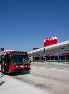 The VIA Brooks Transit Center is part of the on-going evolution of the Brooks area, a former U.S. Air Force Base with over a century of history to its name, including pioneering space exploration discoveries and a visit from President John F. Kennedy.