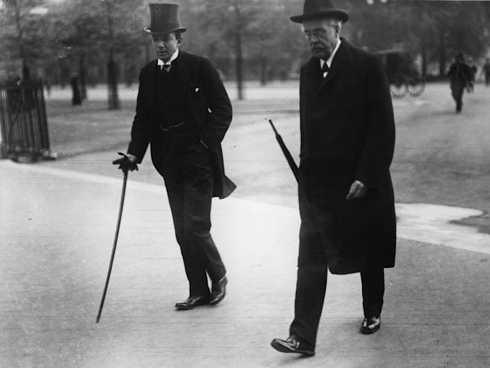 """Foreign secretary Arthur Balfour, right, formally declared British support for the establishment of a """"national home for the Jewish people"""" (Getty)"""