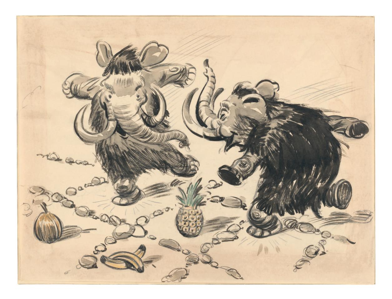 """<p>Ghez sets the scene: """"The very first outline of <i>Dumbo</i>, written by artists Joe Grant and Dick Huemer and submitted to Walt Disney in 1939, featured a total of 23 sequences. At the end of Sequence 4 the young Dumbo meets the mouse Timothy and Timothy is surprised to find out that Dumbo is not afraid of him, which leads to Sequence 5, 'The Mouse's Tale.'""""<br />(Credit: James Bodrero/Disney/Chronicle Books) </p>"""