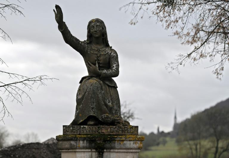 A statue of Joan of Arc at her bithplace in Domremy-La-Pucelle in eastern France