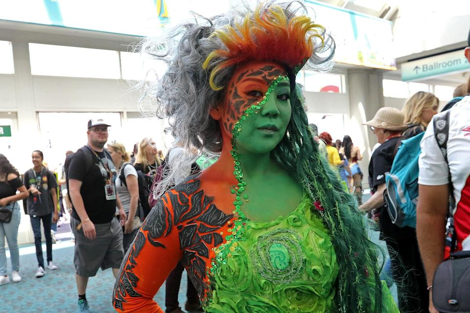 <p>Cosplayer dressed as Te Fiti from <i>Moana</i> at Comic-Con International on July 21, 2018, in San Diego. (Photo: Angela Kim/Yahoo Entertainment) </p>