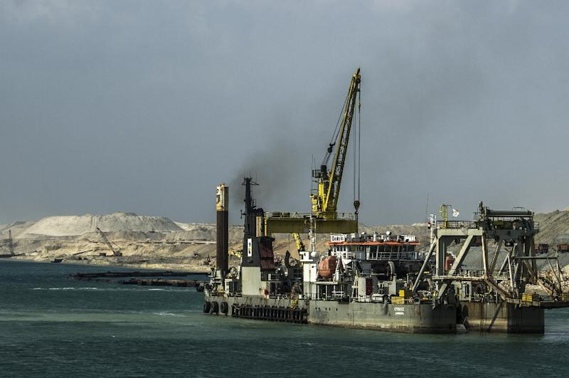 Heavy investment flowed to Egypt for major projects, including to expand the Suez Canal, seen here on June 13, 2015
