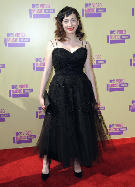 Regina Spektor attends the MTV Video Music Awards on Thursday, Sept. 6, 2012, in Los Angeles. (Photo by Jordan Strauss/Invision/AP)