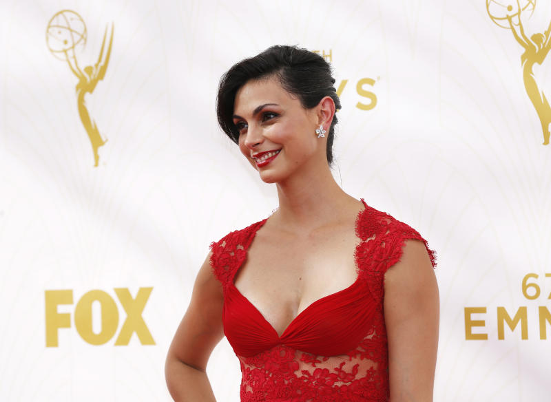 Actress Morena Baccarin arrives at the 67th Primetime Emmy Awards in Los Angeles, California September 20, 2015. REUTERS/Mario Anzuoni