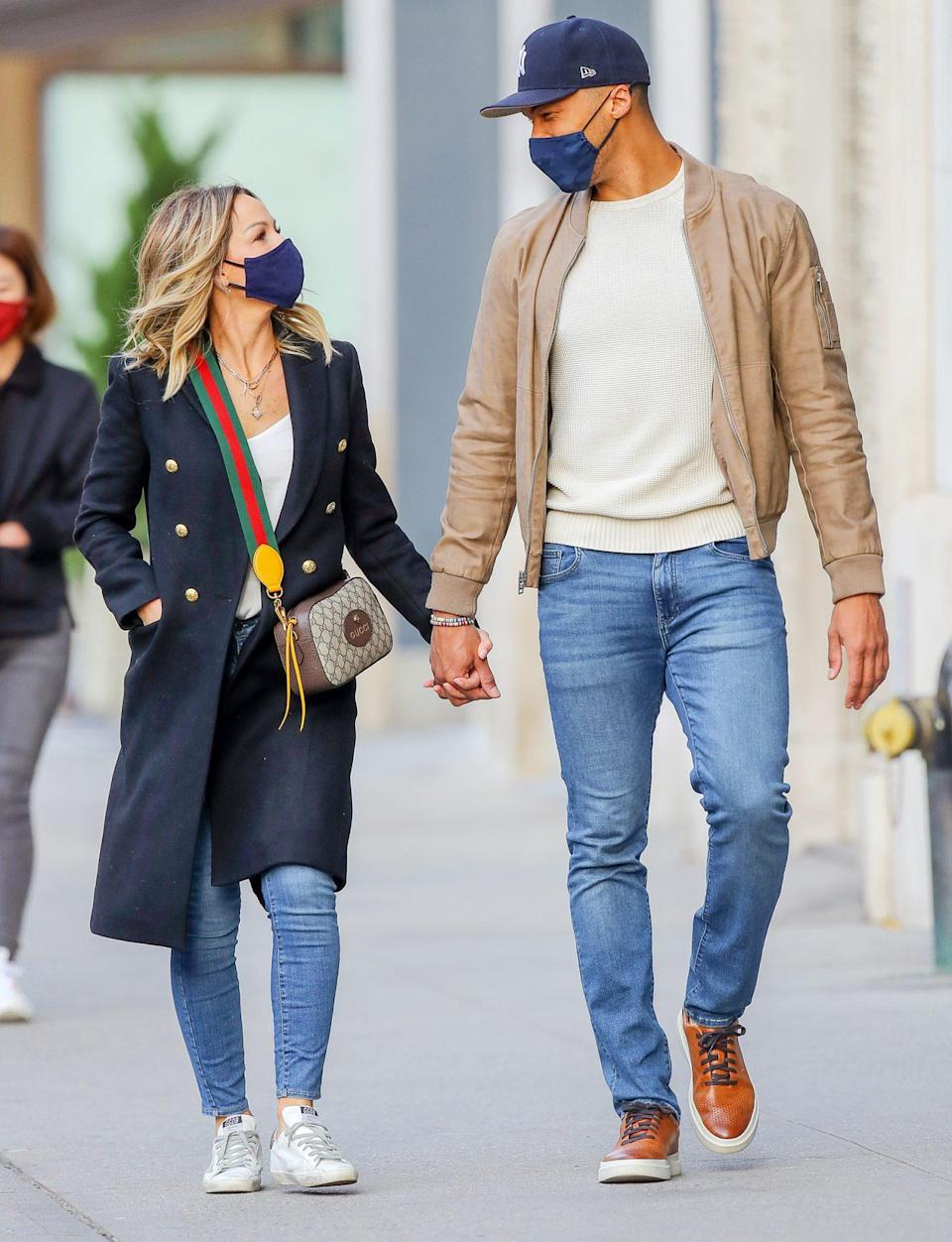 <p>Clare Crawley and Dale Moss have a sweet exchange during their weekend walk through N.Y.C. </p>