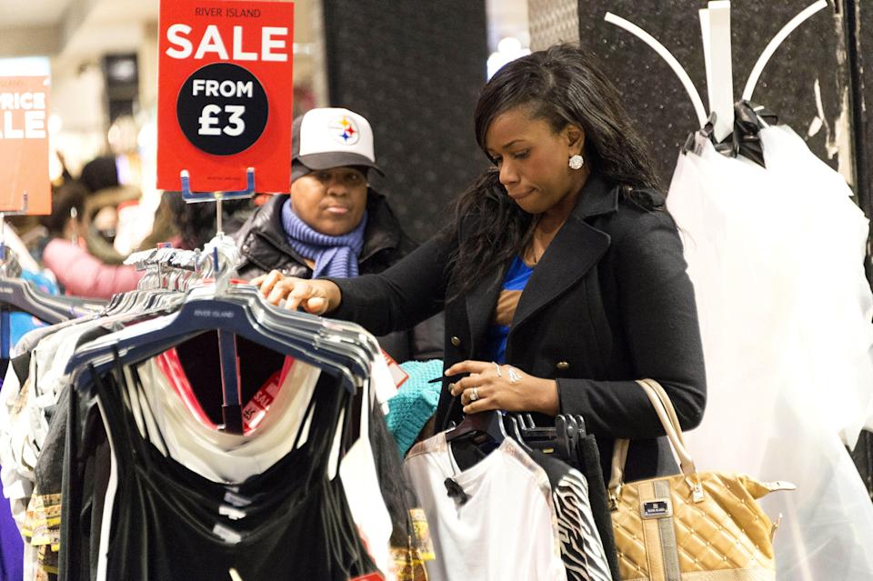 Ebay and Depop are both easy ways of selling on unwanted clothes. (Rex)